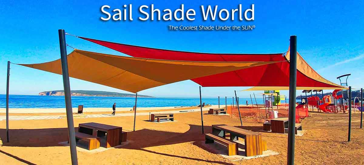 shade sails on beach
