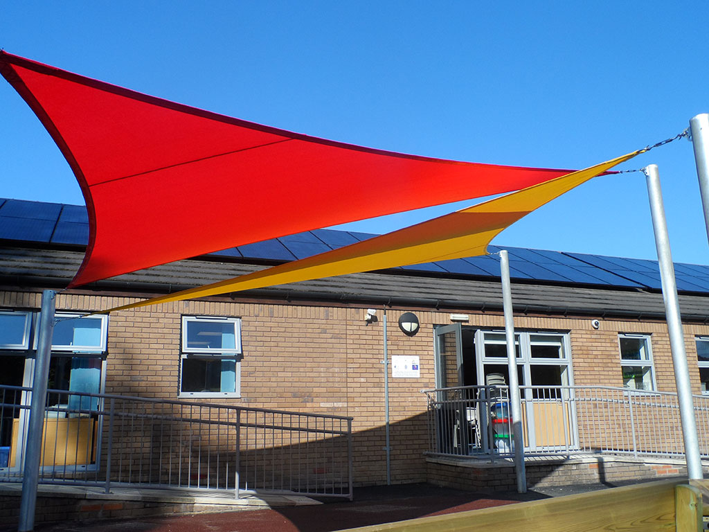 Sail shade World shade sail in Lancaster, United Kingdom