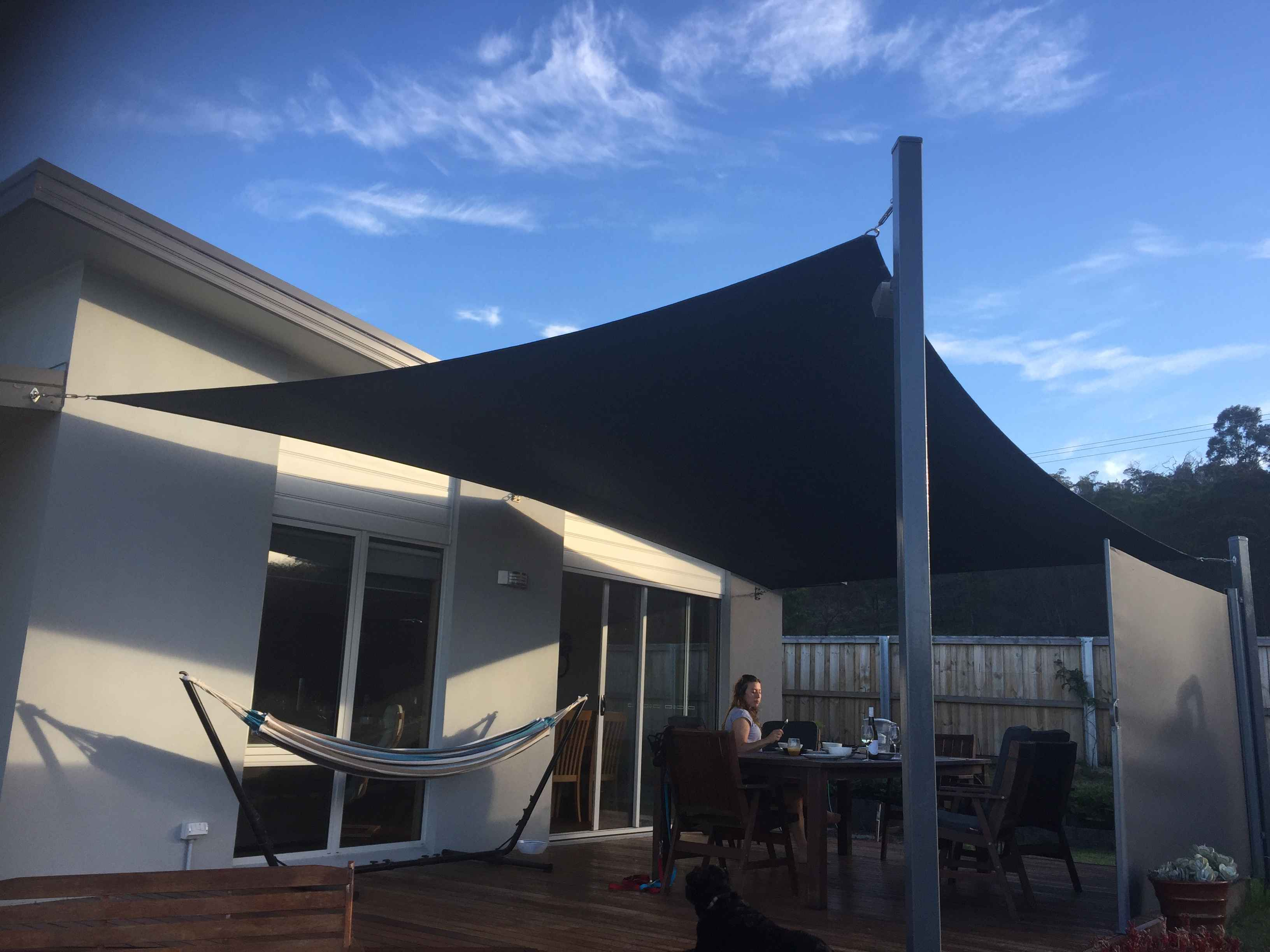 Sail shade World shade sail in Tasmania, Australia