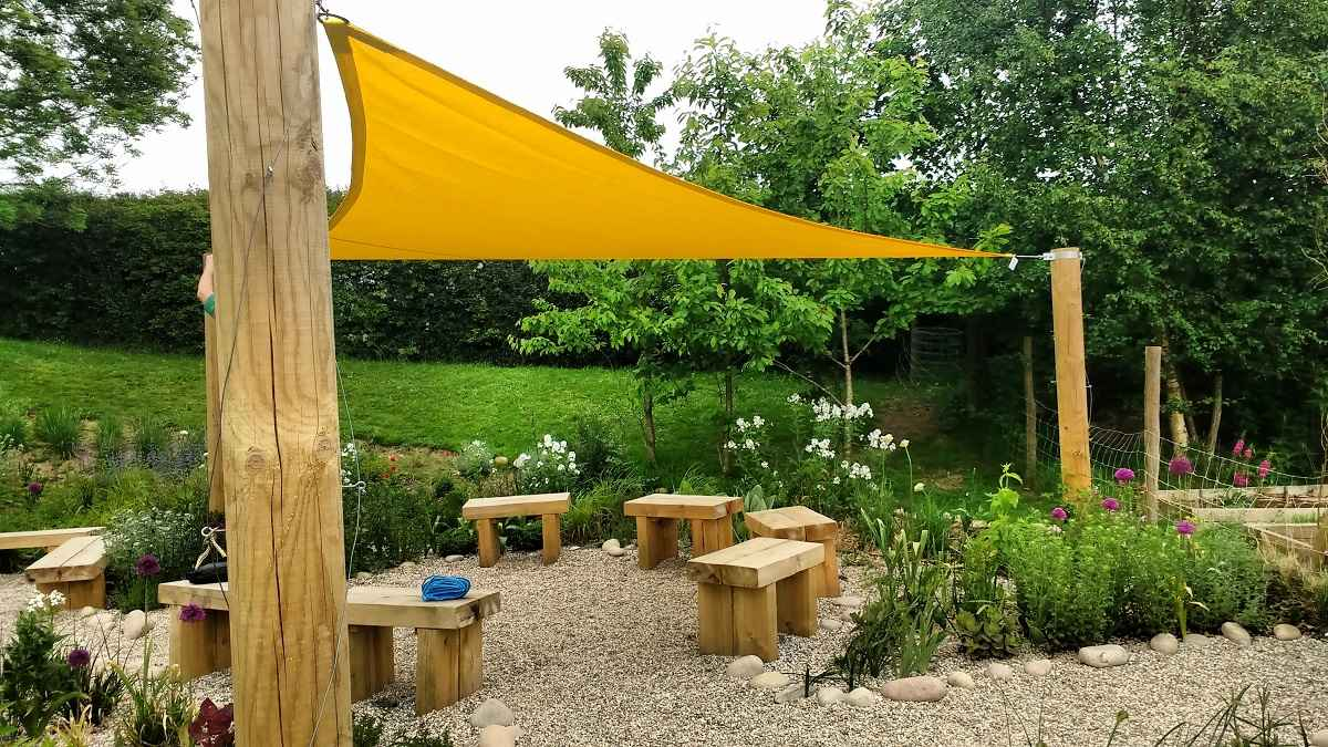 Sail shade World shade sail in Sussex, United Kingdom