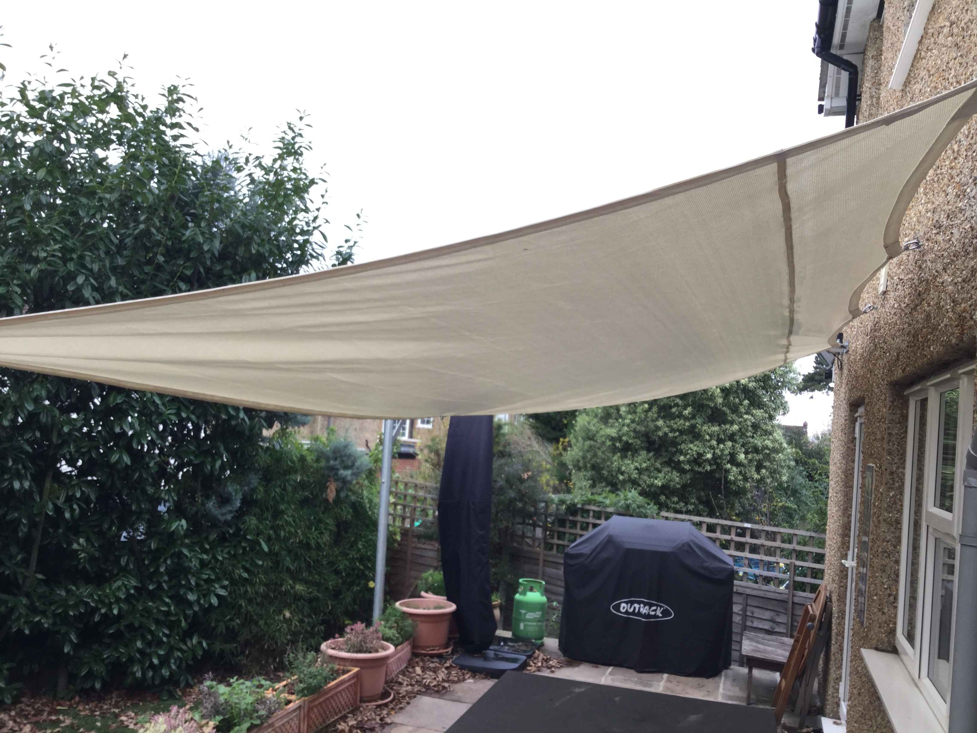 Sail shade World shade sail in Surrey, United Kingdom